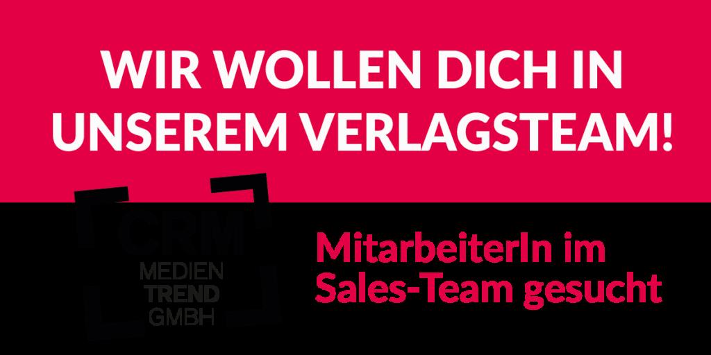 Stellenaussschreibung Sales Team